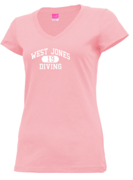 Junior Girls West Jones High School Mustangs Apparel