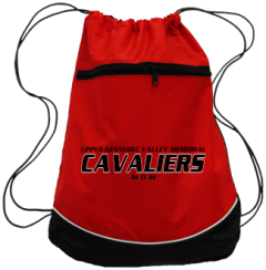 Women's Upper Kennebec Valley Memorial High School Cavaliers Drawstring Back Packs