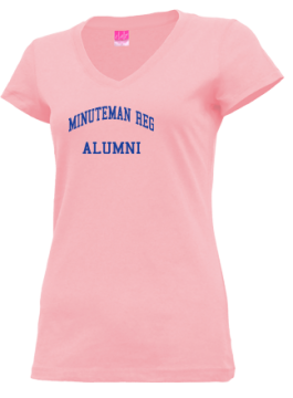 Junior Girls Minuteman Regional High School Mustangs Apparel