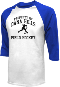 Men's Dana Hills High School Dolphins  Raglan Shirts