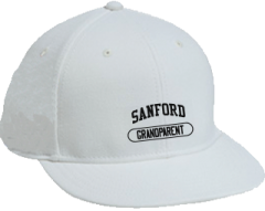 Men's Sanford High School Indians Embroidered Flat Bill Caps