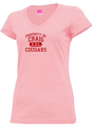 Junior Girls Cougars V-neck Shirts