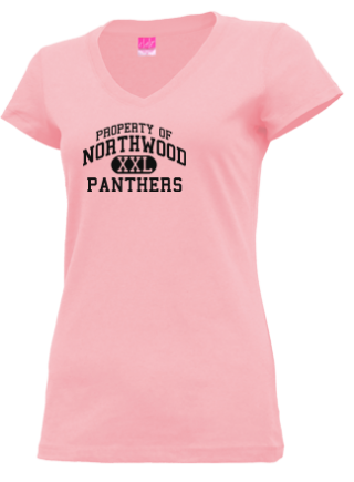 Junior Girls Panthers V-neck Shirts