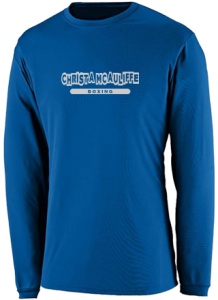 Men's Christa Mcauliffe Middle School   Performance Long Sleeved Crew