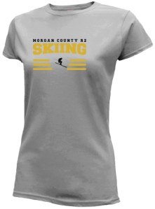 Junior Girls Morgan County R2 Middle School Tigers  Slimfit T-Shirts
