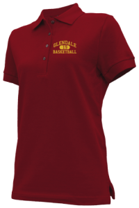 Women's Glendale High School Cardinals Embroidered Polo Shirts