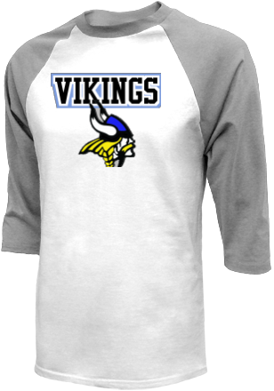 Men 39 s vikings raglan shirts for Custom t shirts montgomery al