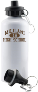 Men's Mililani High School Trojans Aluminum Water Bottles