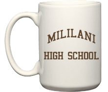 Men's Mililani High School Trojans Coffee Mugs (15oz)