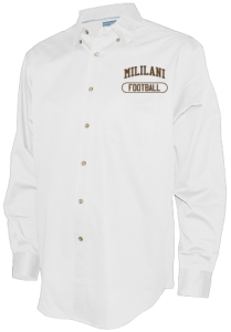 Men's Mililani High School Trojans Long Sleeve Button Up Shirts