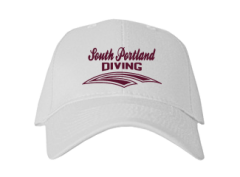 South Portland High School Red Riots Embroidered Baseball Caps