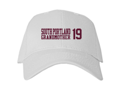 Women's South Portland High School Red Riots Embroidered Baseball Caps
