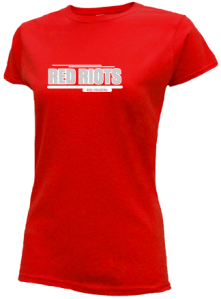 Junior Girls South Portland High School Red Riots  Slimfit T-Shirts