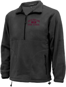 Men's South Portland High School Red Riots Embroidered Fleece Jackets