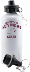 Women's South Portland High School Red Riots Aluminum Water Bottles