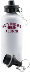 South Portland High School Red Riots Aluminum Water Bottles