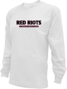 Kids South Portland High School Red Riots Long Sleeve Youth Shirts