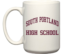 Men's South Portland High School Red Riots Mugs & Bottles