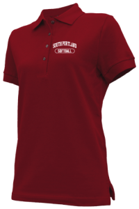 Women's South Portland High School Red Riots Embroidered Polo Shirts