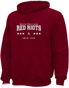 Kids South Portland High School Red Riots  Hooded Sweatshirts