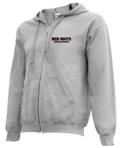 Men's South Portland High School Red Riots  Zip-up Hoodies