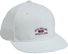 Women's South Portland High School Red Riots Embroidered Flat Bill Caps