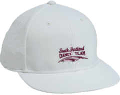 Men's South Portland High School Red Riots Embroidered Flat Bill Caps