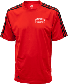 Men's South Portland High School Red Riots Embroidered Adidas Golf ClimaLite® Shirt
