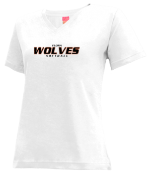 Women's Flora High School Wolves Apparel