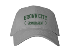 Women's Brown City High School Green Devils Embroidered Baseball Caps