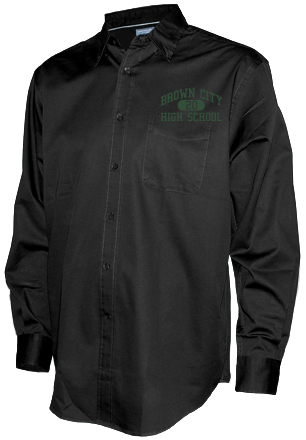 Men's Green Devils Long Sleeve Button Up Shirts