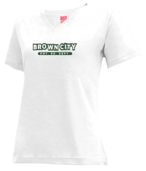 Women's Brown City High School Green Devils Apparel