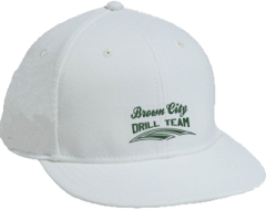 Women's Brown City High School Green Devils Embroidered Flat Bill Caps