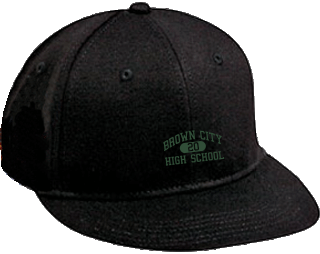 Women's Green Devils Embroidered Flat Bill Caps