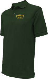 Kids Brown City High School Green Devils Embroidered Polo Shirts