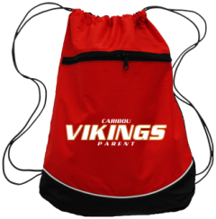 Caribou High School Vikings Drawstring Back Packs