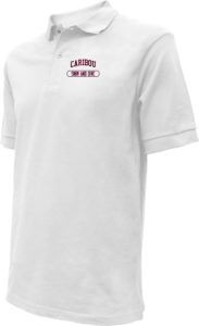 Kids Caribou High School Vikings Embroidered Polo Shirts