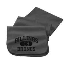 Billings High School Broncs Embroidered Scarfs