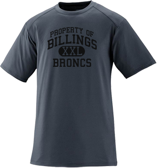Men's Broncs Short Sleeved Performance Mesh Crew