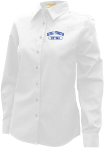 Women's Deer Isle-stonington High School Mariners Long Sleeve Button Up Shirts