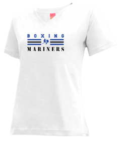 Women's Deer Isle-stonington High School Mariners V-neck Shirts