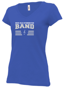 Junior Girls Deer Isle-stonington High School Mariners V-neck Shirts