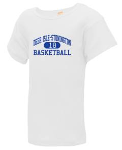 Junior Girls Deer Isle-stonington High School Mariners  T-Shirts