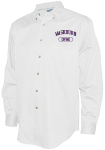Men's Washburn High School Beavers Long Sleeve Button Up Shirts