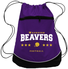 Women's Washburn High School Beavers Drawstring Back Packs