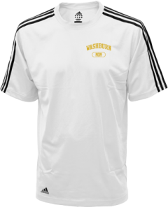 Men's Washburn High School Beavers Embroidered Adidas Golf ClimaLite® Shirt