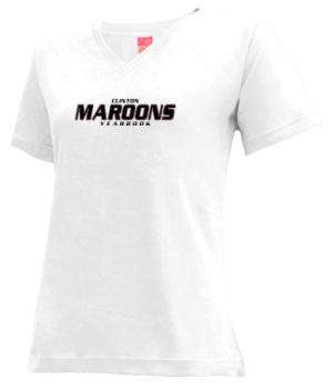 Women's Clinton High School Maroons Apparel