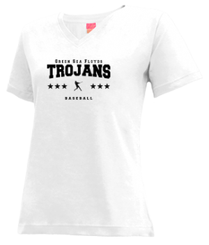 Women's Green Sea Floyds High School Trojans Apparel