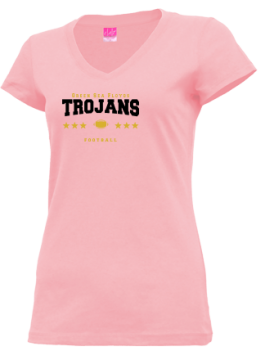 Junior Girls Green Sea Floyds High School Trojans Apparel